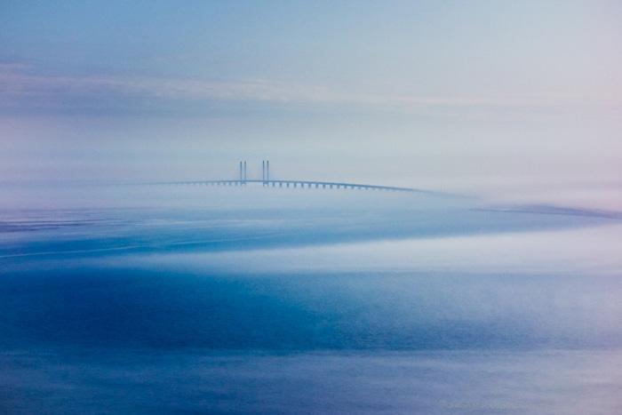 Эресуннский мост, соединяющий Копенгаген в Дании и Мальмё в Швеции.