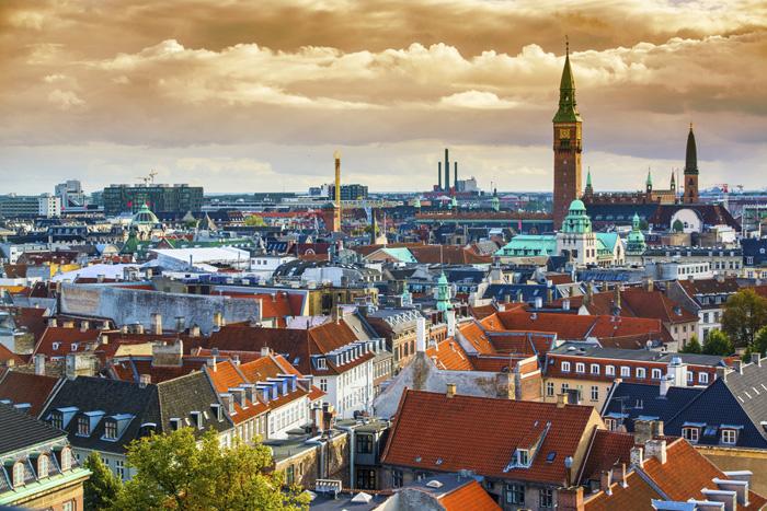 Крыши Копенгагена.