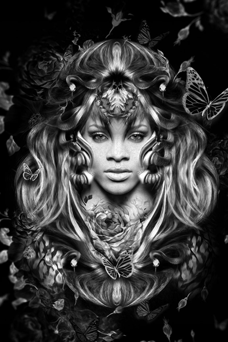 *RiRi*. Рианна. Автор: Nicolas Obery.