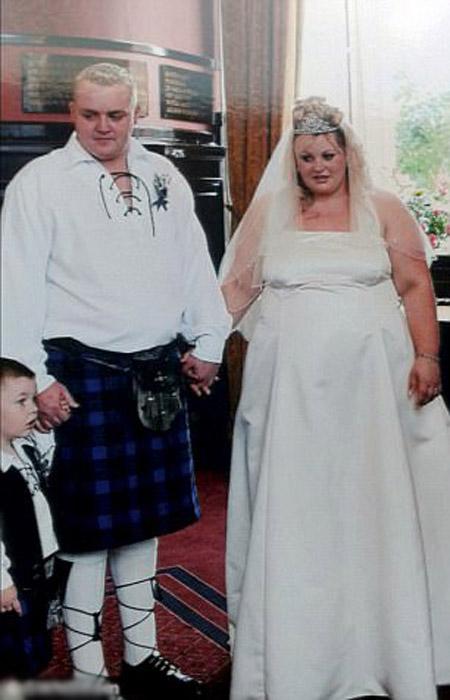 На своих свадебных фотографиях Дженис и Уильям Робертсон были еще с сильным лишним весом.