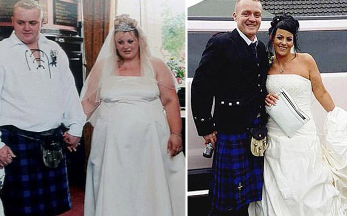 Британская пара похудела в общей сложности на 90 кг.