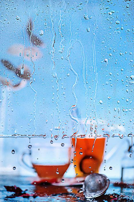 Дождливый день: утренний чай.  Фото: Дина Беленко.