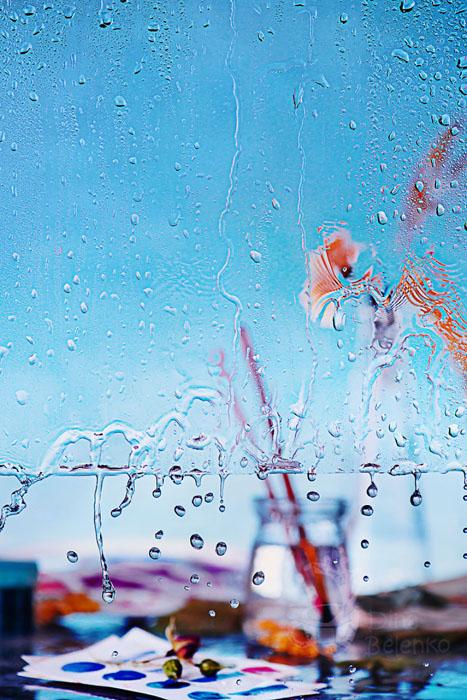 Дождливый день: наброски акварелью.  Фото: Дина Беленко.