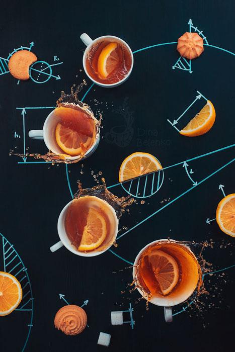 Эксперимент с чаем с лимоном. Фото: Dina Belenko.