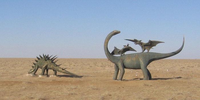 Когда здесь жили динозавры, эта местность была покрыта лесами и озерами.