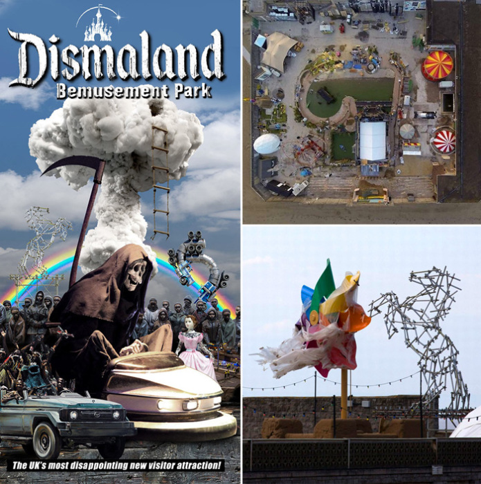 Dismaland - парк развлечений/разочарований от Бэнкси.