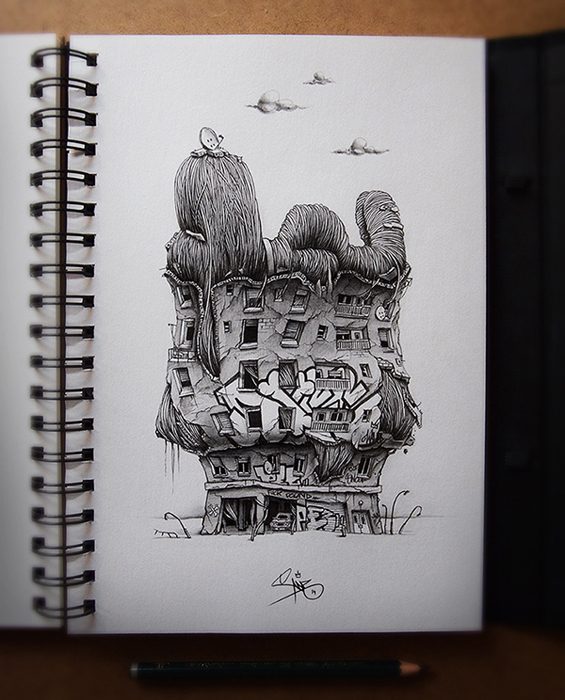Distroy series от французского иллюстратора.