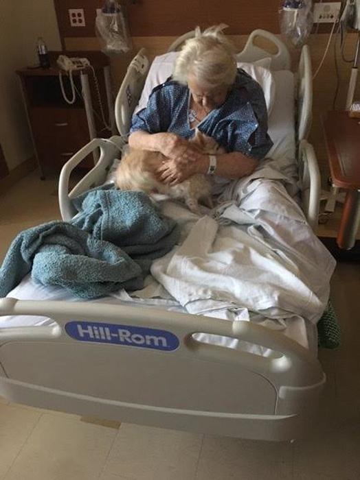 Бабушка очень обрадовалась, увидев свою 13-летнюю собаку.