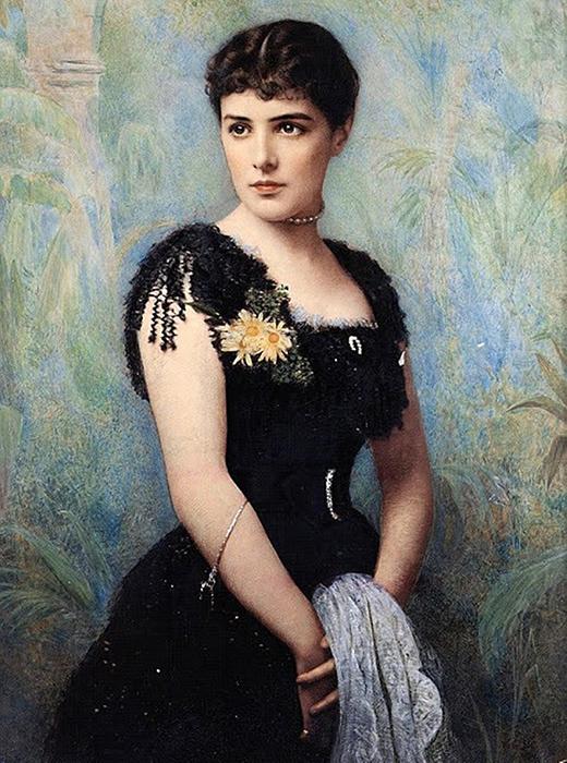 Дженни Черчиль в молодости, ок. 1880 год.