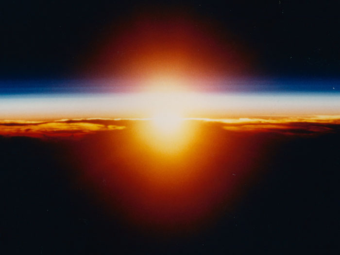 Восход, вид с орбиты.