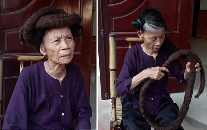 81-летняя Трин Ти Нгиен, отрастившая волосы до трех метров.