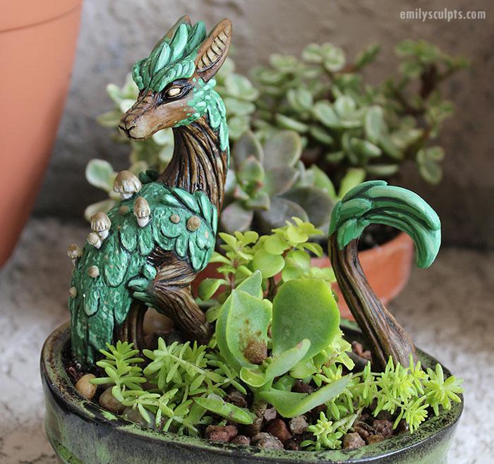 Керамические драконы.  Автор: Emily Coleman.