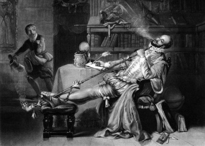 Иллюстрация в книге *История табакокурения*.