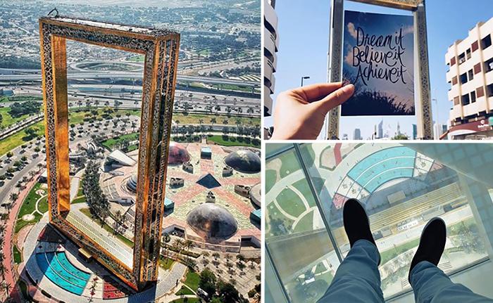 Рамка Дубая. Новая достопримечательность в ОАЭ.