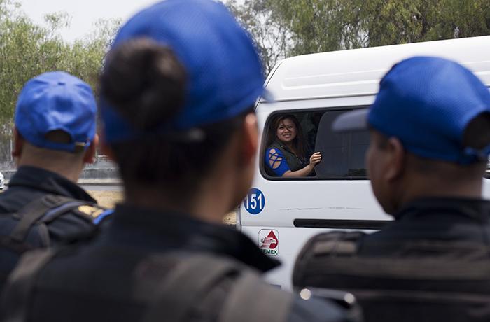 Теперь общественный транспорт в одном из районов Мехико сопровождается полицией.