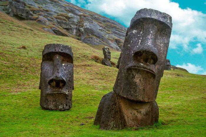 Загадочные статуи острова Пасхи.