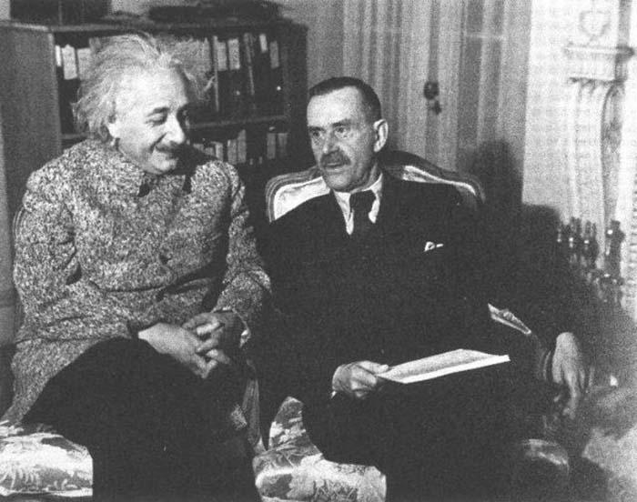 Томас Манн и Альберт Эйнштейн, Принстон 1938 год.