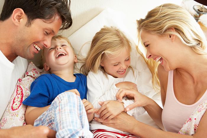 Счастливые родители - залог счастья ребенка.