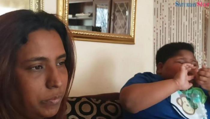 Мама с сыном.