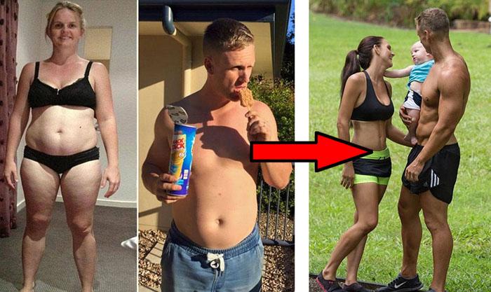 Родители шестерых детей похудели за 8 недель.
