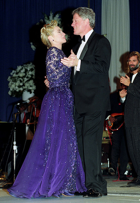Хиллари Клинтон, жена Билла Клинтона. 1993 год.