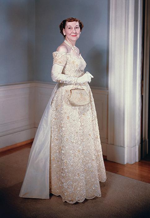 Мейми Эйзенхауэр, жена Дуайта Эйзенхауэра. 1956 год.