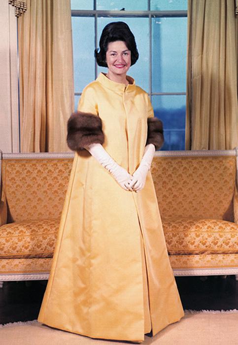 Клаудия Альта Джонсон, жена Линдона Джонсона. 1963 год.