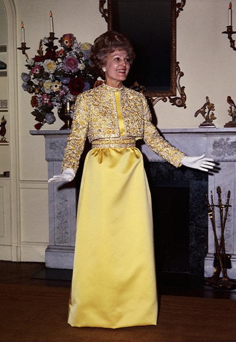 Тельма Кэтрин Никсон, жена Ричарда Никсона. 1969 год.