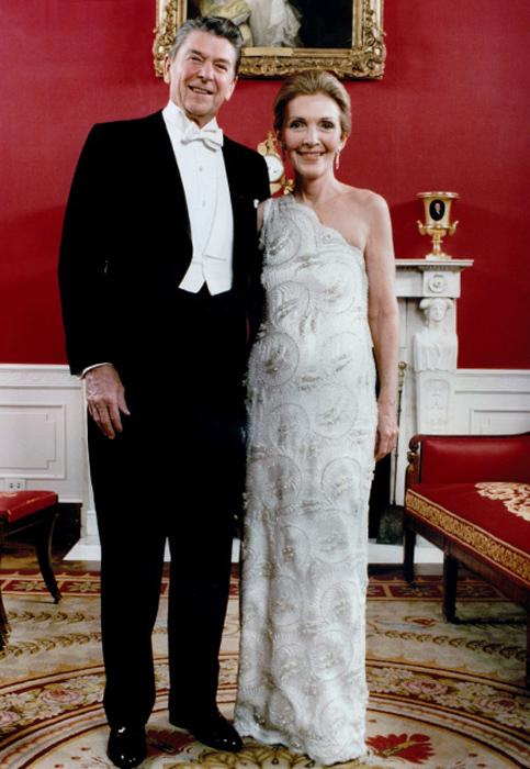 Нэнси Рейган, жена Рональда Рейгана. 1981 год.