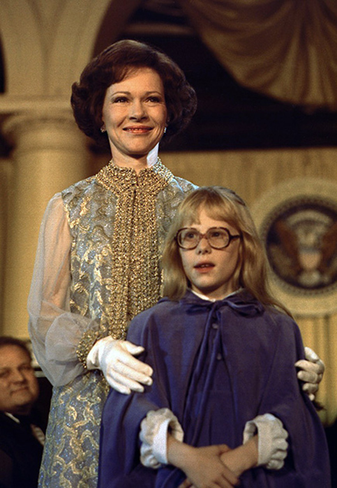 Розалин Картер, жена Джимми Картера. 1977 год.