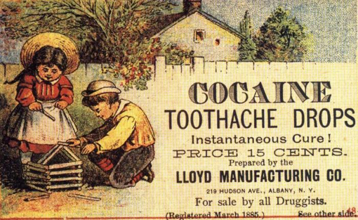 Реклама зубной пасты с кокаином.