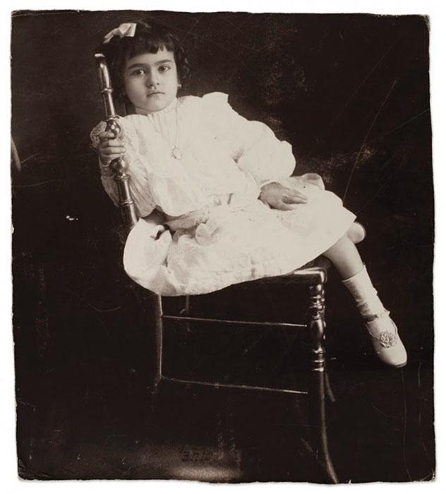 Фриде Кало 5 лет, 1912г.