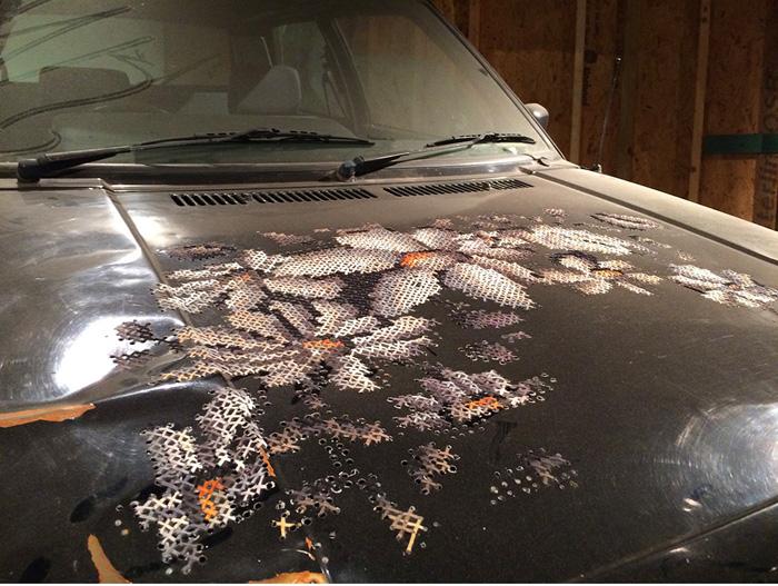 Вышивка на автомобиле, автор Severija Incirauskaite-Kriauneviciene.