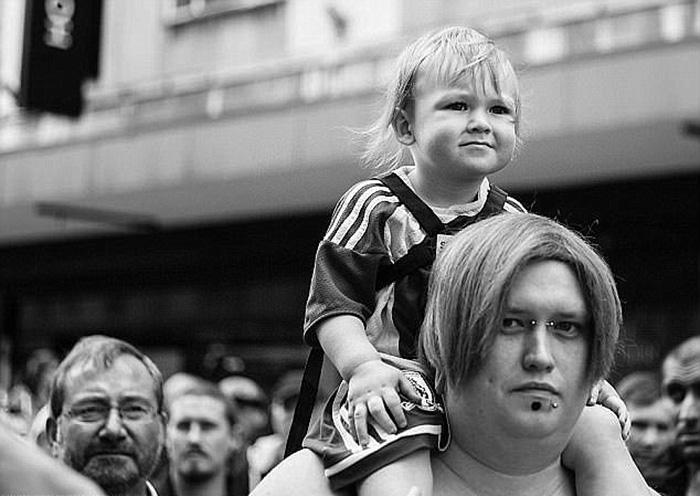 Луис с сыном.