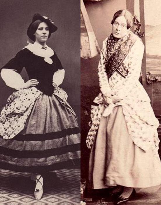 В XIX веке мужчины часто играли женщин на сцене в театре.