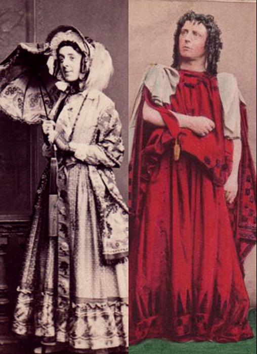 Актеры Льюс Вингфилд (слева) и Фредерик Робсон (справа).