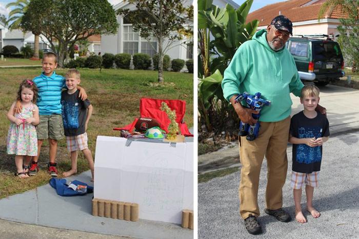 Щедрый мальчик готов был отдать свои любимые игрушки детям, которым нечем играть.