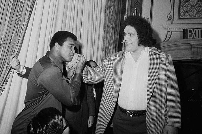 Андре Гигант и Мохаммед Али.