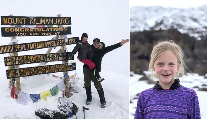 Семилетняя девочка поднялась на самую высокую гору Африки.