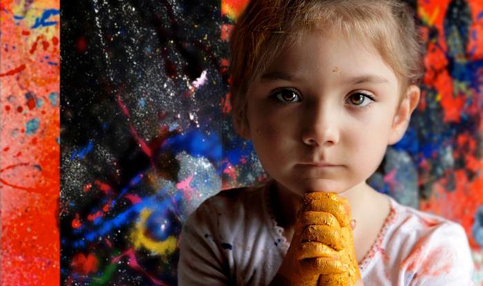 Аэлита Андрэ, 7-летняя художница из Австралии.
