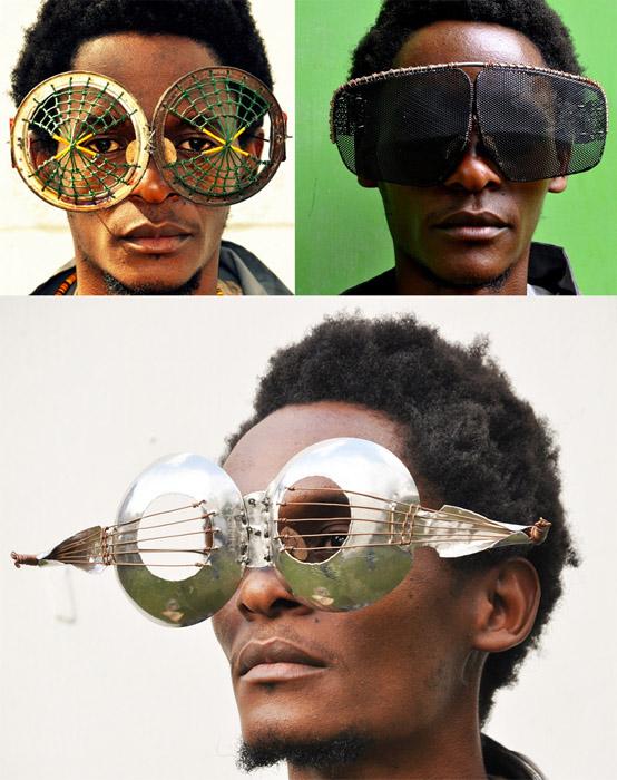 Очки Сируса Кабиру, созданные из электронного мусора.