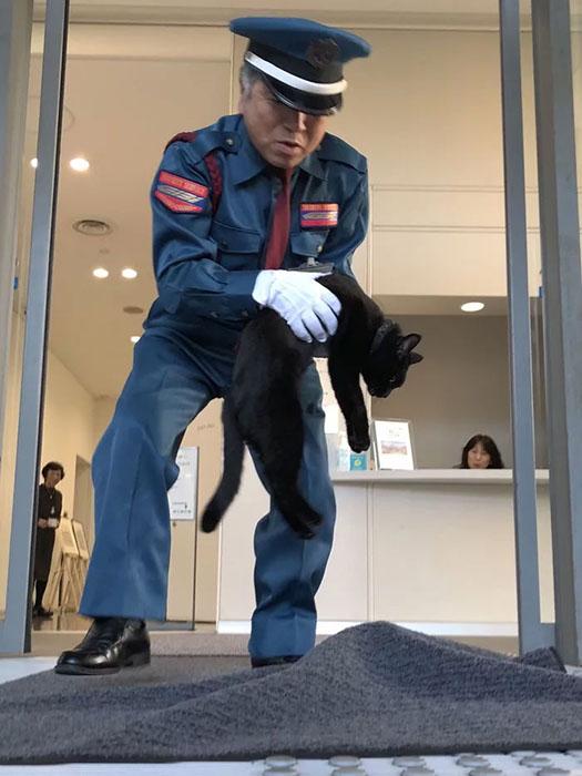Охранник не пускает Го в музей.