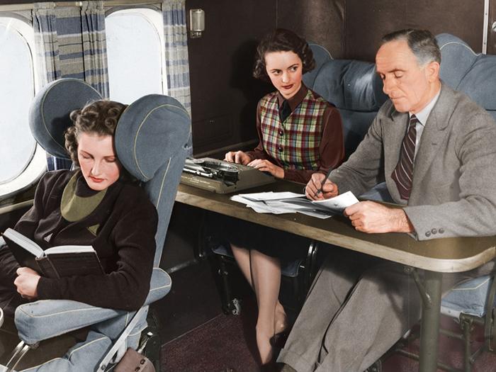 Комфорт самолетов в 1960-е.