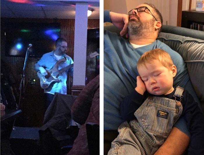 Раньше недавал публике уснуть своими гитарными рифами, теперь сам могу уснуть влюбом месте ивлюбом положении.
