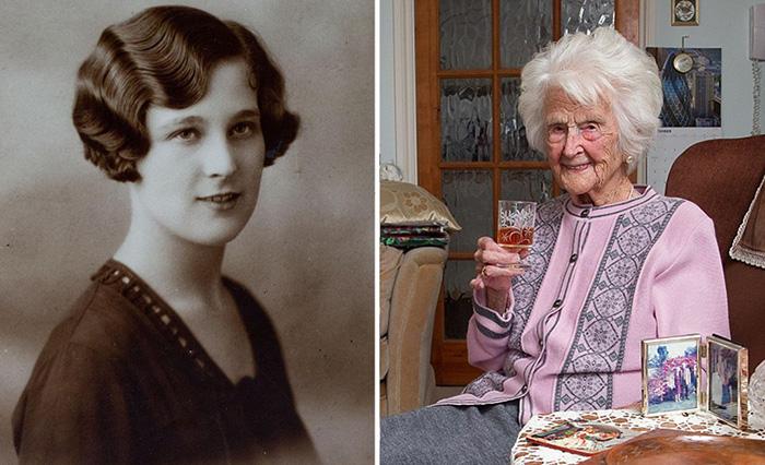 112-летняя британка Грейс Джонс.