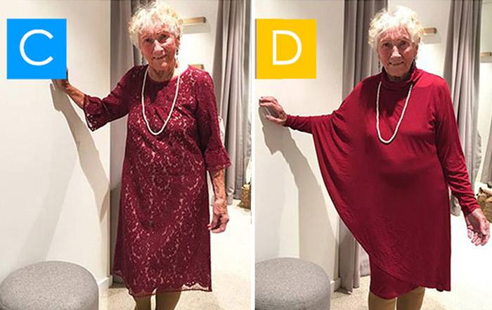 93-летняя невеста не может определиться с выбором свадебного платья.