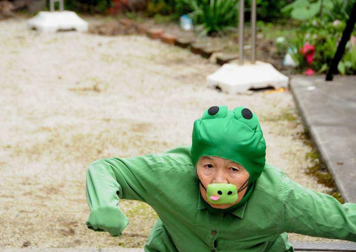 Селфи от японской бабушки. Фото: Kimiko Nishimoto.