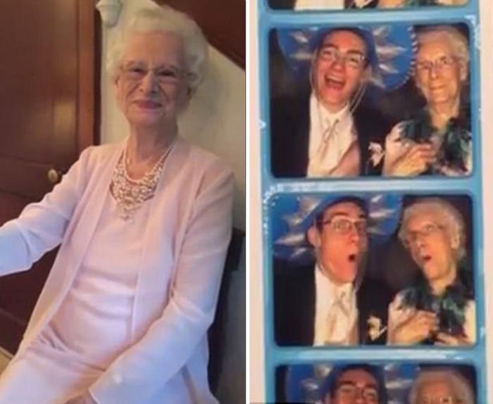 Бабушка осталась очень довольна своим выходом в свет.