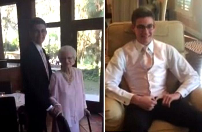 Коннор обещал своей бабушке, что возьмет ее на выпускной, с начала учебного года.