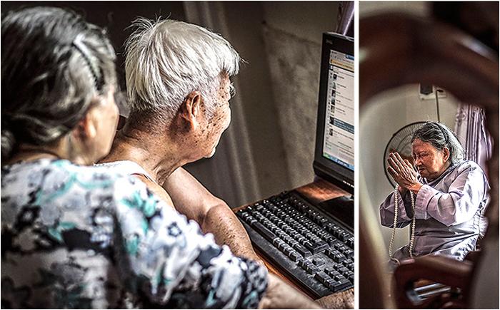 Бабушка и дедушка из Вьетнама.